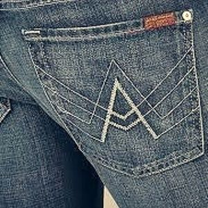 """7 for all Mankind Sz 25 """"A"""" Pocket Bootcut Jeans"""